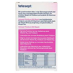 TETESEPT Folsäure 800 Depot Tabletten 40 Stück - Rückseite