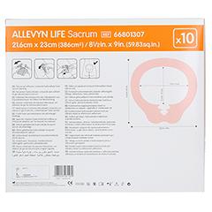 ALLEVYN Life Sacrum groß Silikonschaumverband 10 Stück - Rückseite