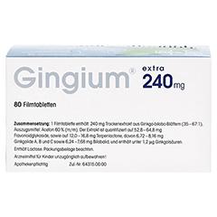 Gingium extra 240mg 80 Stück - Rückseite