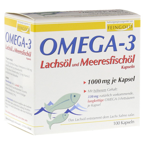 OMEGA 3 Lachsöl und Meeresfischöl Kapseln 100 Stück