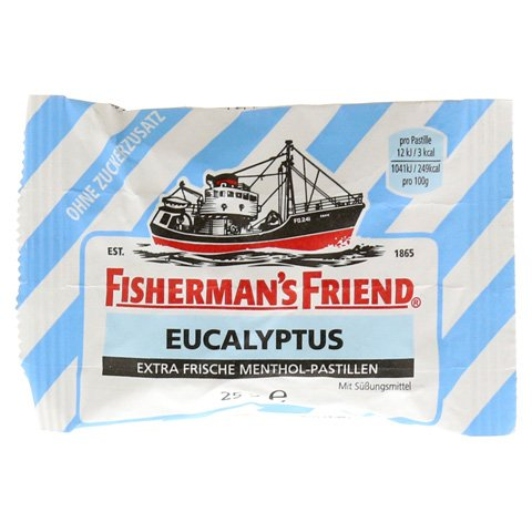 FISHERMANS FRIEND Eucalyptus ohne Zucker Pastillen 25 Gramm