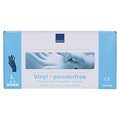 VINYL Handschuhe puderfrei large blau 100 Stück - Oberseite
