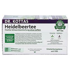 DR.KOTTAS Heidelbeertee Filterbeutel 20 Stück - Oberseite