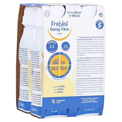 FREBINI Energy Fibre Drink Vanille Trinkflasche 4x200 Milliliter