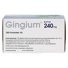 Gingium extra 240mg 120 Stück N3 - Unterseite