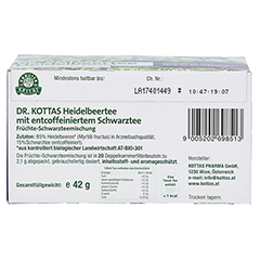 DR.KOTTAS Heidelbeertee Filterbeutel 20 Stück - Unterseite