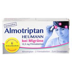Almotriptan Heumann bei Migräne 12,5mg 2 Stück N1 - Vorderseite