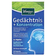 KNEIPP Gedächtnis+Konzentration Kapseln 30 Stück - Vorderseite