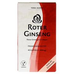 ROTER GINSENG 400 mg 8% von Terra Mundo Kapseln 40 Stück - Vorderseite