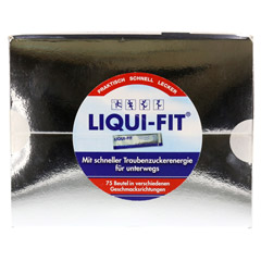 LIQUI FIT flüssige Zuckerlösung Vorratsbox Beutel 75 Stück - Vorderseite
