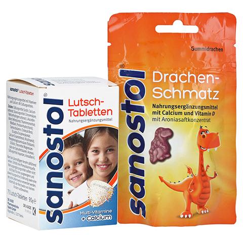 Sanostol Lutschtabletten + gratis sanostol Drachen-Schmatz 75 Stück