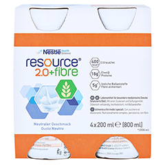 RESOURCE 2.0 fibre Neutral 4x200 Milliliter - Vorderseite