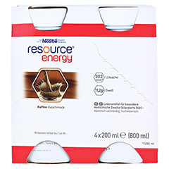 RESOURCE Energy Coffee 4x200 Milliliter - Vorderseite
