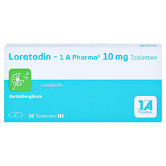 Loratadin-1A Pharma 20 Stück N1 - Vorderseite