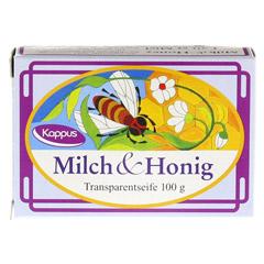 KAPPUS Milch und Honig Transp.Seife 100 Gramm - Vorderseite