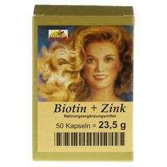 BIOTIN PLUS Zink Haarkapseln 50 Stück - Vorderseite