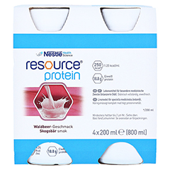 RESOURCE Protein Drink Waldbeere 4x200 Milliliter - Vorderseite