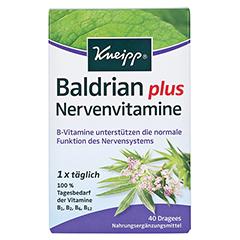 KNEIPP Baldrian plus Nervenvitamine Dragees 40 Stück - Vorderseite