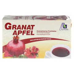 GRANATAPFEL TEE Filterbeutel 20 Stück - Vorderseite