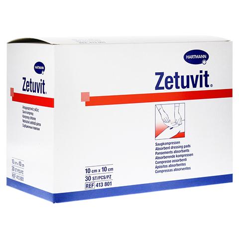 ZETUVIT Saugkompresse unsteril 10x10 cm 30 St�ck
