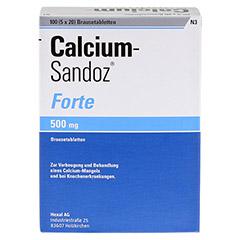 CALCIUM SANDOZ forte Brausetabletten 5x20 St�ck N3 - R�ckseite