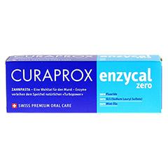 CURAPROX enzycal zero Zahnpasta 75 Milliliter - Vorderseite