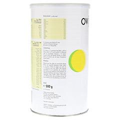OVIVO SLIM Diätdrink Banane Pulver 500 Gramm - Rückseite