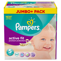 PAMPERS Active Fit Gr.5 junior 11-25kg Jumbo plus 60 Stück
