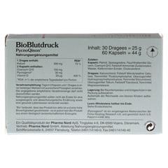 BIOBLUTDRUCK Dragees+Kapseln Pharma Nord Kombip. 1 Packung - Rückseite