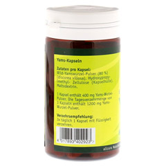 YAMS Kapseln 250 mg Yamspulver 60 Stück - Linke Seite