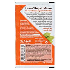 LUVOS Naturkosmetik Heilerde Repair Maske 2x7.5 Milliliter - Rückseite