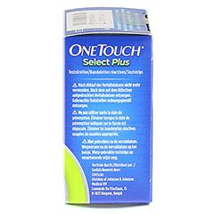 ONETOUCH SelectPlus Blutzucker Teststreifen 50 Stück - Rechte Seite