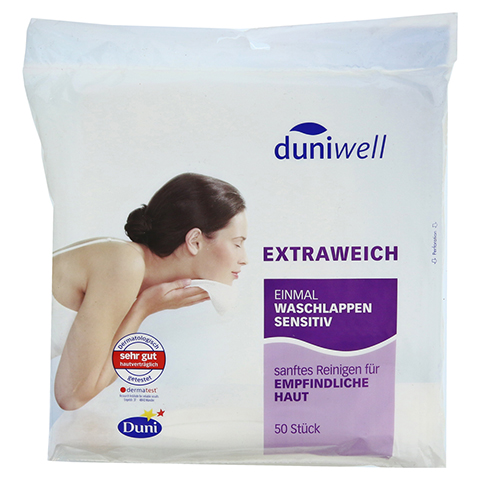 DUNIWELL Einmal Waschlappen sensitiv 50 St�ck