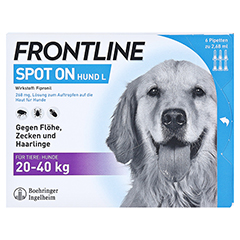 FRONTLINE Spot on H 40 L�sung f.Hunde 6 St�ck - Vorderseite