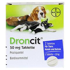 DRONCIT 50 mg Tabletten für Hunde/Katzen 2 Stück - Vorderseite