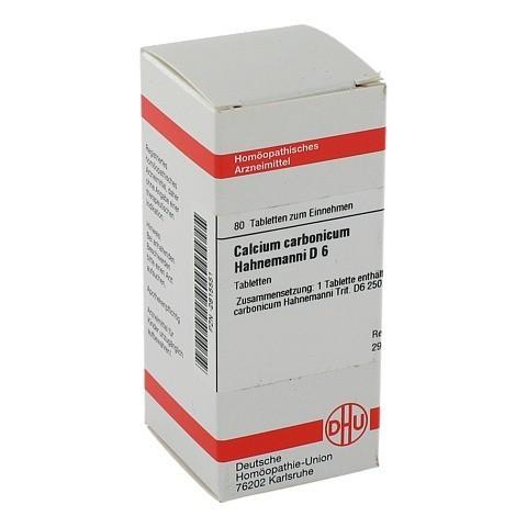 CALCIUM CARBONICUM Hahnemanni D 6 Tabletten 80 St�ck N1