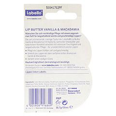 LABELLO Lip Butter Vanilla Macadamia Balsam 25 Gramm - Rückseite
