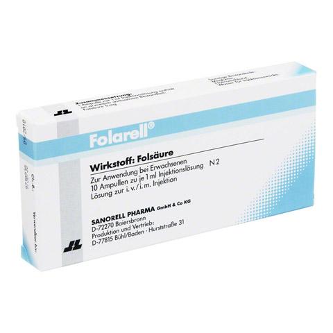 FOLARELL Injektionslösung 10x1 Milliliter N2