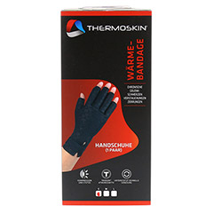 THERMOSKIN Wärmebandage Handschuhe S 2 Stück - Vorderseite