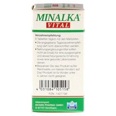 MINALKA Tabletten 150 Stück - Linke Seite