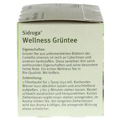 SIDROGA Wellness Grüntee Filterbeutel 20x1.7 Gramm - Linke Seite