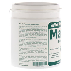 MACA 100% Pur Bio Pulver 500 Gramm - Linke Seite