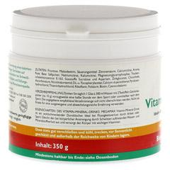 Megamax Vita Mineral Drink Orange Pulver 350 Gramm - Linke Seite