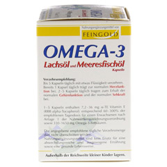OMEGA 3 Lachsöl und Meeresfischöl Kapseln 100 Stück - Rechte Seite