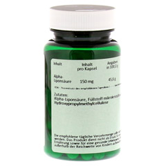 ALPHA LIPONSÄURE 150 mg Kapseln 60 Stück - Rückseite