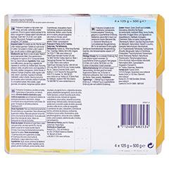FORTICREME Vanillegeschmack 4x125 Gramm - Rückseite