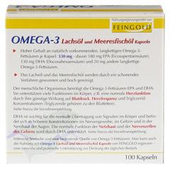 OMEGA 3 Lachsöl und Meeresfischöl Kapseln 100 Stück - Rückseite