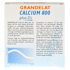 CALCIUM 800 plus D3 Grandelat Kautaler 20 Stück - Rückseite