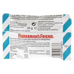 FISHERMANS FRIEND Spearmint ohne Zucker Pastillen 25 Gramm - Rückseite