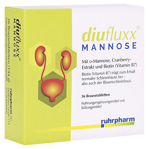 DIUFLUXX Mannose Brausetabletten 36 Stück